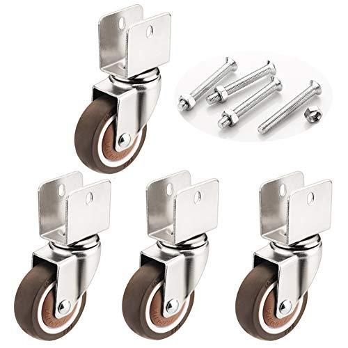 Schwenkrollen,Möbelrollen,Gummirollen mit Staubschutz,18mm/20mm/22mm/25mm,für Möbel,Stuhl Räder,Ersatz Trolley(No brake22mm)