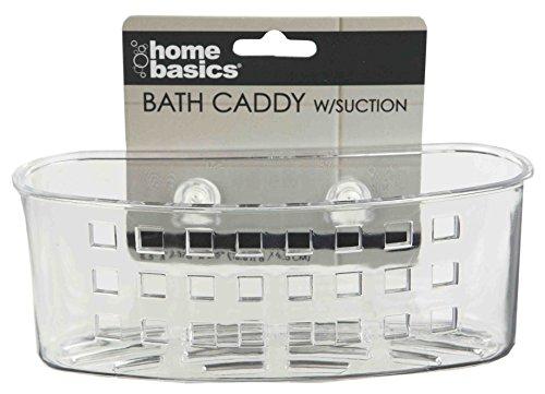 Home Basics Bath W/Suction Clear WID Caddy