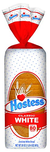 Hostess Classic White Bread, 20 Ounce (Pack of 4)