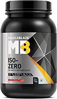 MuscleBlaze Iso-Zero Low Carb (2.2 LB, Low Carb Chocolate)