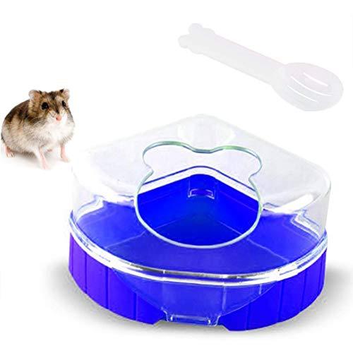 Einsgut Zandbak voor huisdieren, badkamer, met schep, voor kleine dieren, hamsters, racemuizen, ratten en muizen