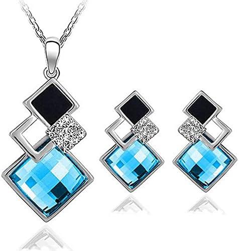 Crystal Ranking TOP1 Pendants Geometric Shape Necklace Earrings Squa latest Big Sets