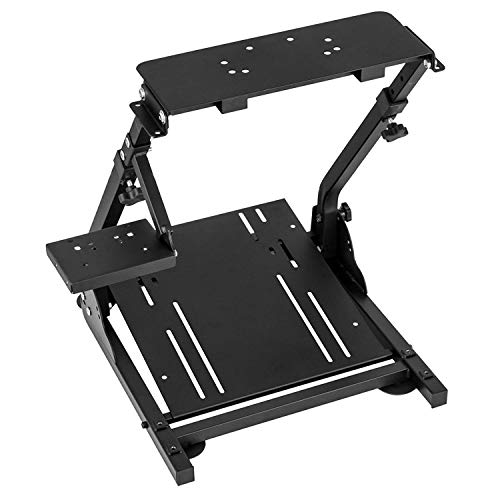 Dshot Racing Wheel Stand Pro Shifter Mount Height Adjustable Driving Simulator Cockpit Compatible with Logitech G25, G27, G29, G920 Gaming Cockpit