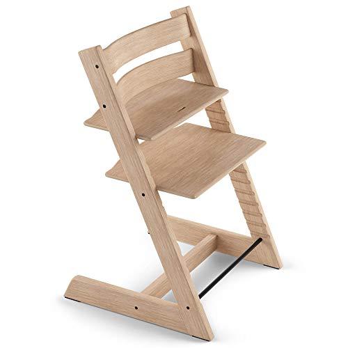 TRIPP TRAPP® Chaise Haute – Chaise haute avec dossier pour bébé ergonomique et évolutive pour toute la vie – Couleur: Chêne Naturel