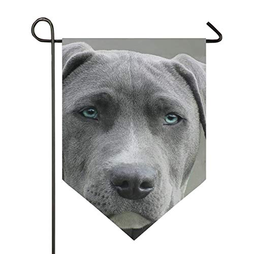 FANTAZIO zwarte en witte korte jas hond tuin vlaggen Premium kwaliteit Yard vakantie en seizoensgebonden decoratieve vlaggen outdoor decoratieve vlaggen - dubbelzijdig 12x18.5in 1 exemplaar