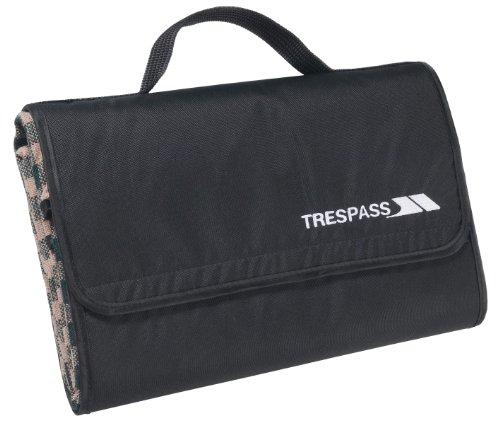 Trespass Throw, Tropical Stripe, Wasserdichte, Kompakt Zusammenfaltbare Picknickdecke 135cm x 120cm, Blau