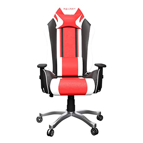 Rekart (RGC-02) PU + PVC Black Frame, 350mm Metal Base, with Lumbar Support, Angle 90-175 Degree Office and Gaming Chair