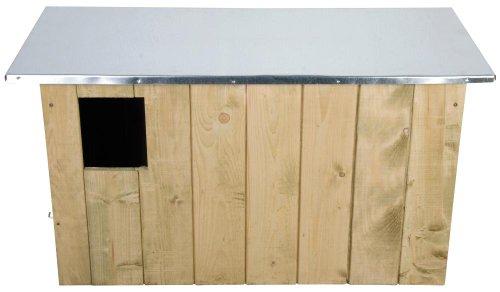 Esschert Design 3 Stück Nistkasten, Vogelhaus Schleiereulen aus Holz, ca. 86 cm x 37 cm x 44 cm