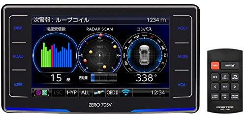 コムテック レーダー探知機 ZERO 705V 無料データ更新 移動式小型オービスダブル対応/ゾーン30対応 ユーザ...