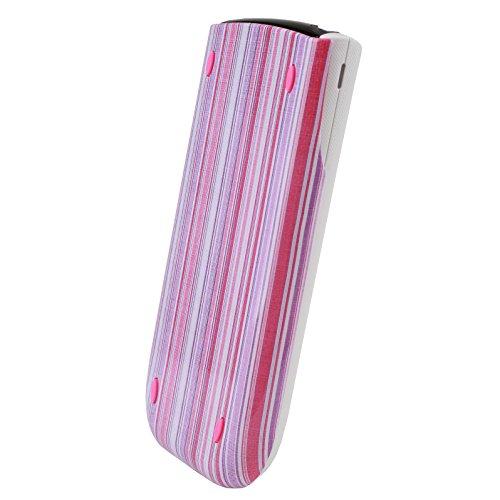 Guerrilla Hard Slide Case-Cover for TI-84 Plus, TI 84-Plus C Silver Edition, TI-89 Titanium Graphing Calculator, Pink Stripe Photo #3