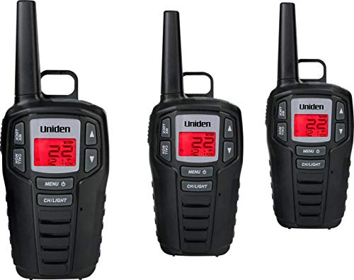 Uniden SX307-3C FRS 3-Pack, Up to 30-Mile Range, Walkie Talkies, 22-Channel FRS 2-Way Radios - Black. Buy it now for 69.99