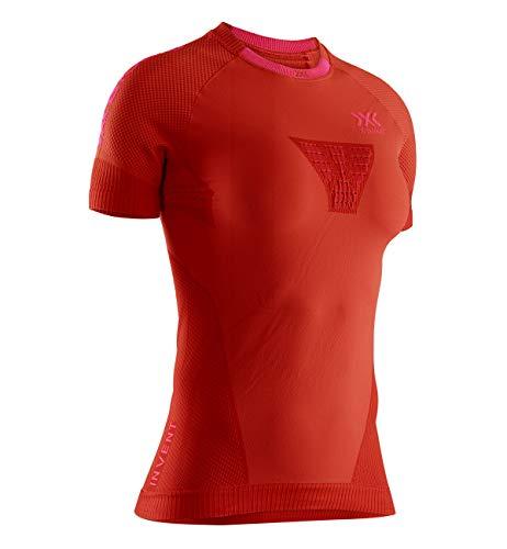 X-Bionic Invent 4.0 Run Speed Chemise Femme, Sunset Orange/Neon Flamingo, M