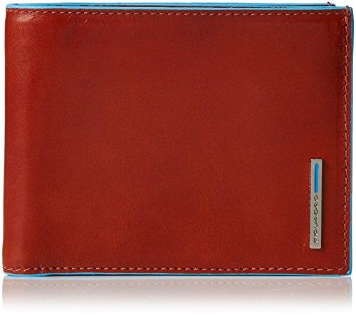 Piquadro PU1241B2/AR Blue Square Portafoglio, Arancione, 12 cm