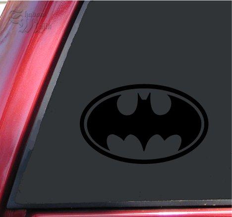 "Batman Bat Symbol Vinyl Decal Sticker (6"" X 3.8"", Black)"