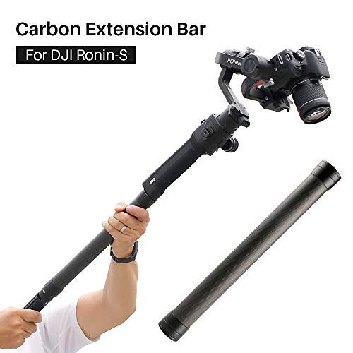 Gimbal Stabilisator ausziehbare Stange für DJI Ronin S – Handheld Kohlefaser-Stativ-Verlängerungsrohr kompatibel mit Gimbal Stabilisator Feiyu/Zhiyun Smooth Q & 4 und alle Gimbals mit 1/4 Zoll Gewinde