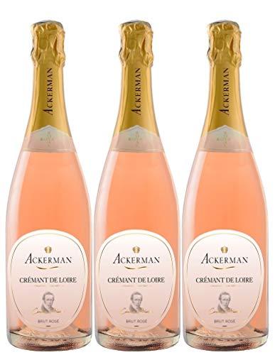 Ackerman Cuvée Privée Rosé Brut - AOP Crémant de Loire (3 x 0.75 l)