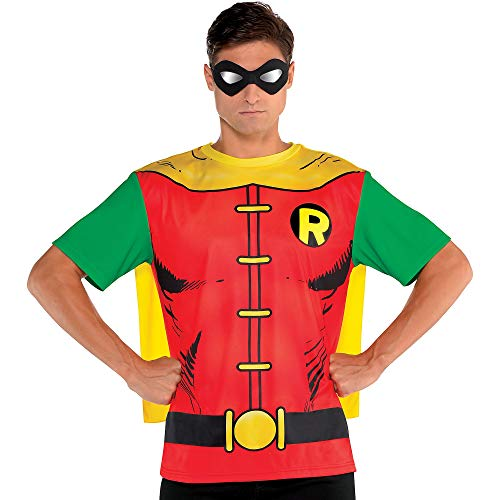 Suit Yourself Batman Robin T-Shirt with Cape for Adults, Size...