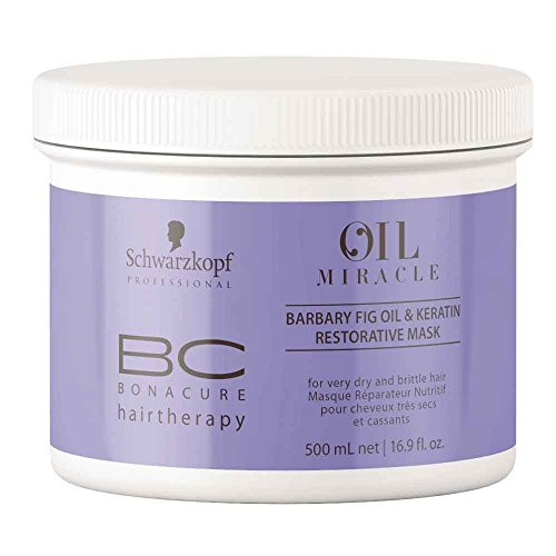 Schwarzkopf Bonacure Oil Miracle Barbary fig oil and Keratin Mask, 500 ml, 1er Pack, (1x 0,5 L)