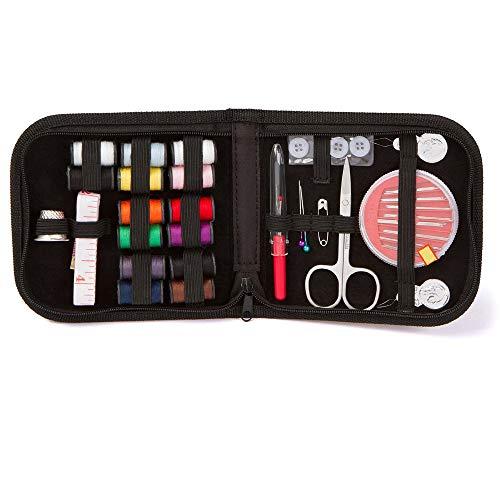 Kit de costura para viajes, hogar y emergencia- portátil pequeño, básico, kit...