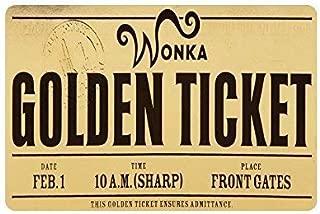 YGUII Custom Machine-Washable Willy Wonka Golden Ticket Chocolate Bar 3 Door Mat Decorative Doormat Indoor/Outdoor Doormat Non-Woven Fabric Non Slip Gate Pad Rug16X23.6in (40x60cm)