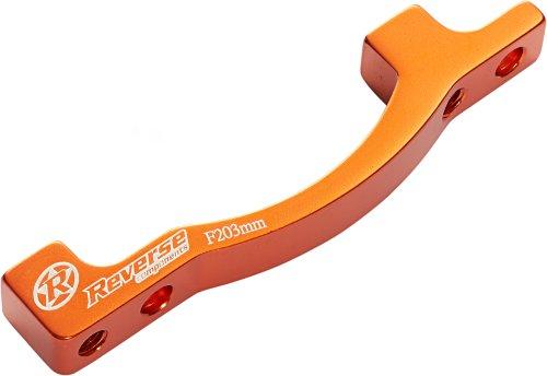 Reverse Scheibenbremsen Adapter PM-PM von 160 auf 203mm orange