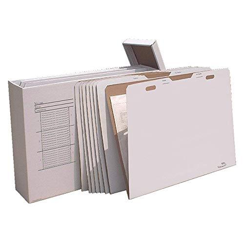 Vertical Flat File System Filing Box (Set of 8) Size: 34