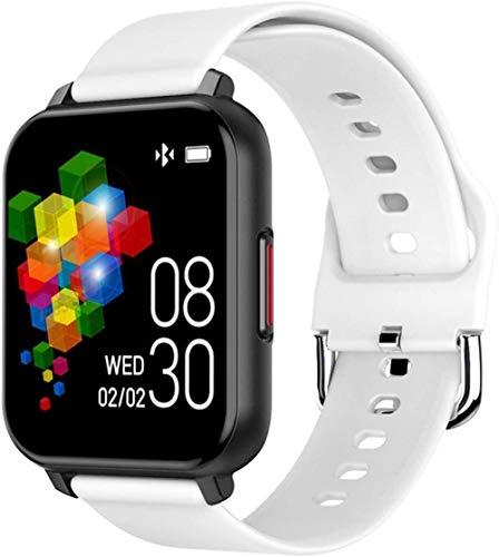 Smart Watch 1 3 pulgadas de pantalla delgada y ligera información de recuento de pasos Recordatorio de llamada Pulsera de juegos de larga duración para Android e iOS Exquisito/Rosa Blanco