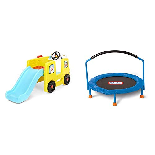 Little Tikes Little Baby Bum Wheels on The Bus Climber and Slide with Interactive Musical Dashboard & 3' Trampoline – Amazon Exclusive