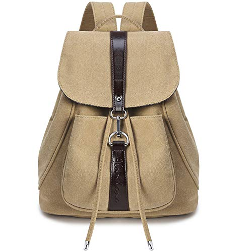 Jywmsc Girls Nylon Backpack Stylish Anti Theft Teen Bags School Backpack 2019 New (04 Khaki)