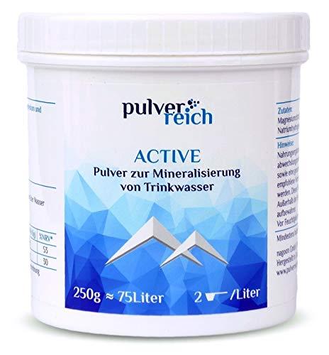 Pulverreich - Elektrolyte pur für Sport und Reisen - Mineralstoffe ohne Aroma, zuckerfrei, für Wassersprudler und Trinksysteme, Pulver (250g)