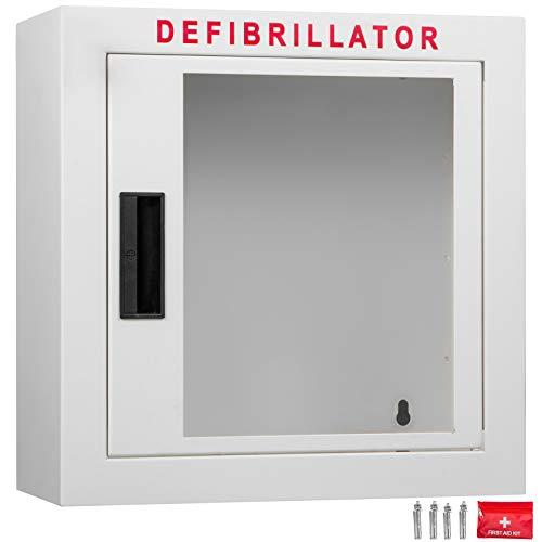 VEVOR 15Inch AED Cabinet Emergency 38x38x18cm Universal AED Schrank Defibrillator Wandkasten AED Wall Mount Cabinet Defi Wall Box