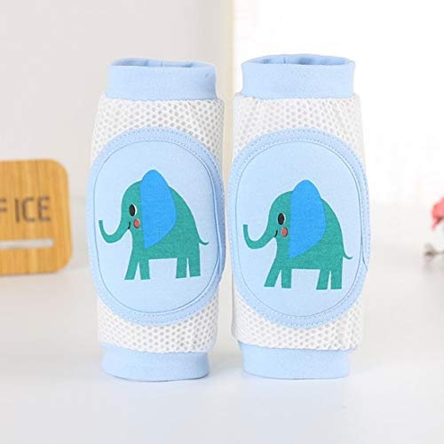 LIXUDECO Warm Socks Cartoon Baby Knee Pads Anti Slip Mesh Cushion Crawling Protector Cotton Kids Kneecaps Children For Grils Boys Leg Warmers 0-3Y (Color : Elephant)