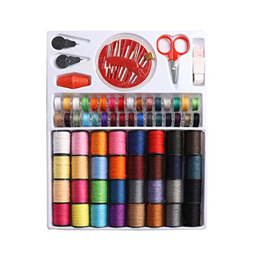 Naaien Gereedschap Kit Needlework Box Set 64 Spoelen Kleurrijke Sewing Thread Set DIY Sewing Thread Kit Naaimachine Hand Naaien Tool