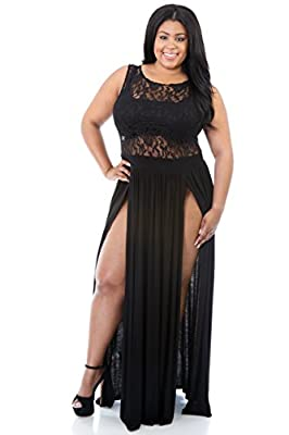 Rekais Women's Sexy Plus Size Reign Maxi Dress XXL Size