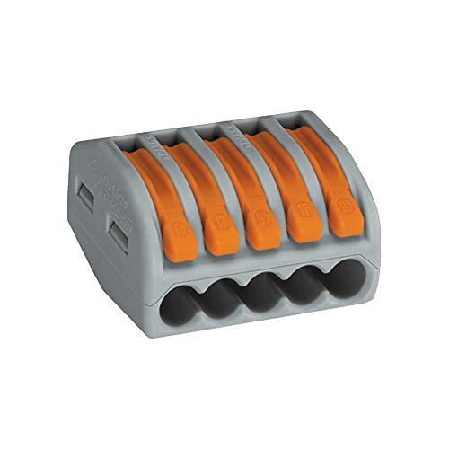Wago 222-413 - Pinzas de unión (3 unidades, con palanca de control, de 0,08 a 4 mm²), caja de 50 piezas