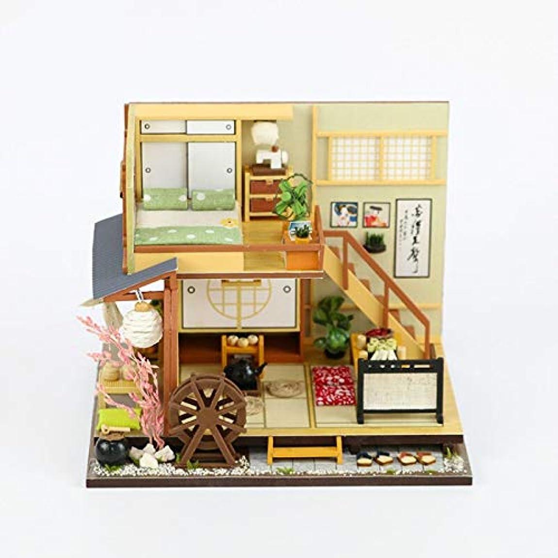 積極的に習字文新しい手作りアセンブリ日本モデル diy のドールハウス、森休日 dustprrof フェスティバルギフト