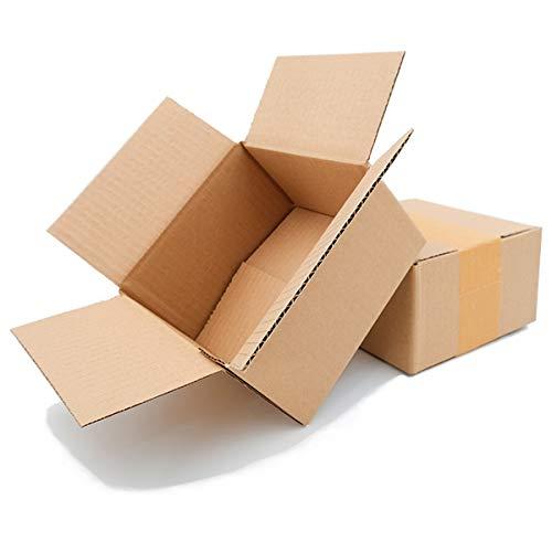 50 Faltkartons 150x150x80mm braun KK 05 1 wellig quadratische Versandkartons für kleine Waren | DHL Päckchen S | DPD XS | Hermes Päckchen | GLS XS | kleine Kartons | kleine päckchen | Mailbox S