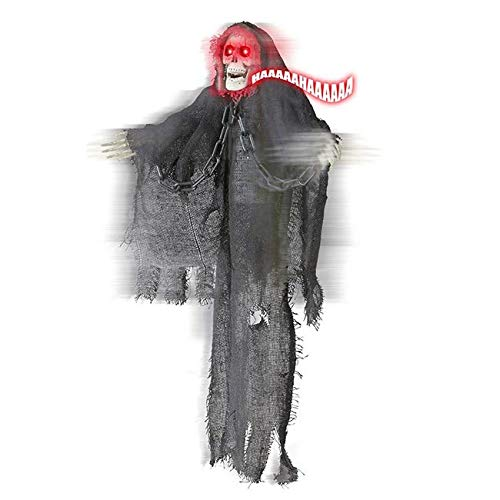 Widmann vd-wdm01390 Grim Reaper animé tremante avec Yeux Lumineux, Gris, Taille Unique