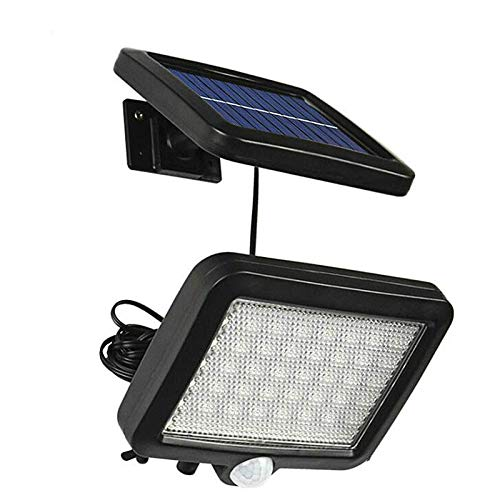 koulate Solar Wall Light Waterproof Human Body Induction LED Lamp for Outdoor Garden