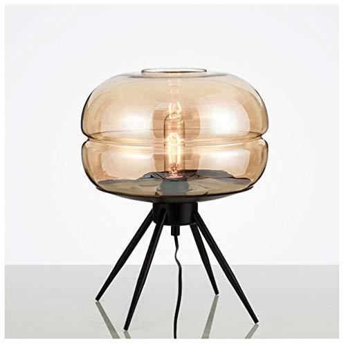 Yyqx Lámpara de mesa moderna lámpara de mesa dormitorio mesilla de noche...