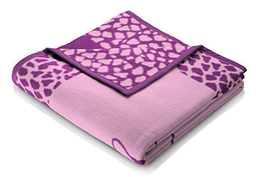Bocasa by biederlack Babydecke Baumwollmischung pink Größe 75x100 cm