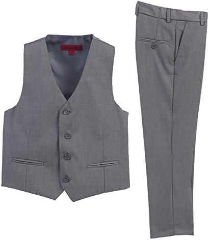 2 Piece Kids Boys Gray Vest and Pants Formal Set 10 product image