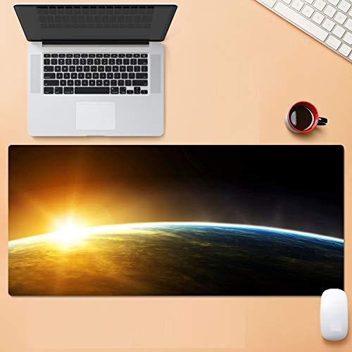 Luz de Paisaje Alfombrilla de Ratón Gamer Gaming Keyboard Pc Family Desk Pad to Laptop Alfombrilla de Ratón 40X70 Alfombrillas Lavables 900 * 400 * 3 Mm