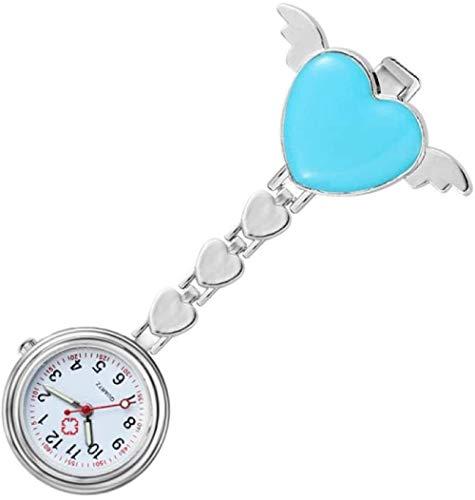 B/H Reloj MéDico De Bolsillo Colgante,Reloj de Bolsillo dedicado a la Enfermera, Reloj de Bolsillo Sonriente para Estudiantes-L
