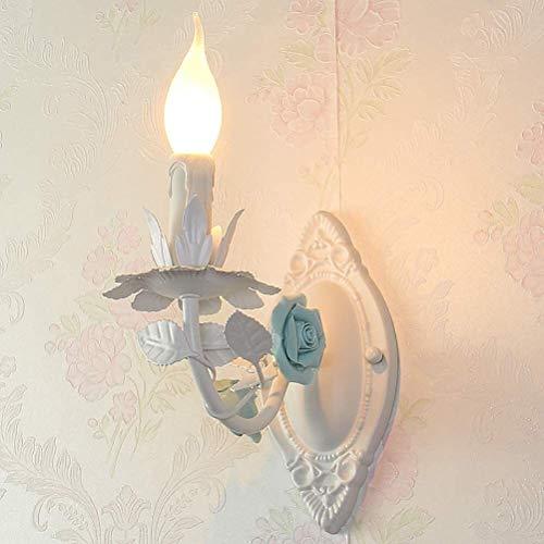 Vela clásica lámpara de pared del aplique de estilo florentino flor de Luz a la pared rosa blanca pared del diseño de velas decoración interior iluminación for la sala de estar Comedor Restaurante Hot