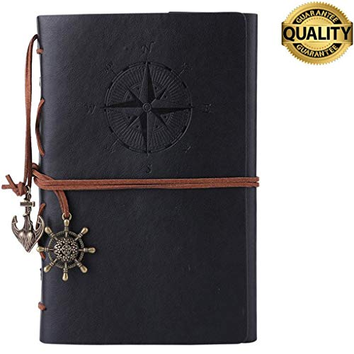 Leather Writing Journal Notebook, Lemical Vintage Nautical Spiral Blank String Diary Notepad...