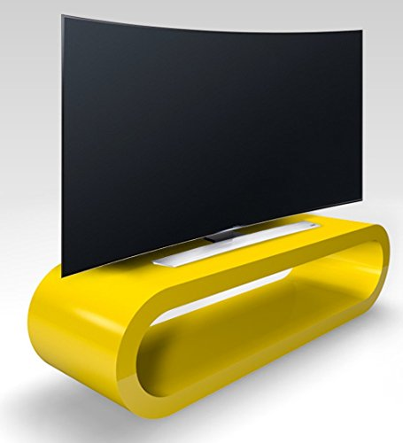 Zespoke Cerceau de Style Rétro Grande Jaune Brillant Meuble TV/Armoire 110cm
