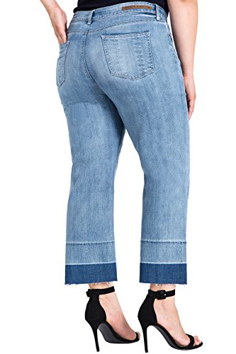 Standards-Practices-Plus-Size-Womens-Raw-Hem-Frayed-Cropped-Premium-Jeans
