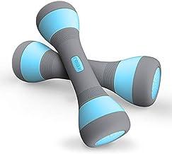 Adjustable Dumbbells Sets for Women, Dumbell Set Non-Slip Neoprene Dumbbells Free Weights Hand Weights for Exercise, 5 Wei...