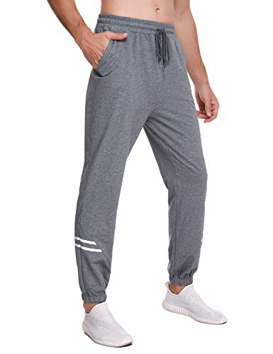 Sykooria Pantalon de Jogging Homme Coton Mode Training Fitness Pants avec Poches Pantalon de Survêtement Taille Élastique Casual Activewear Pantalons Automne Hiver